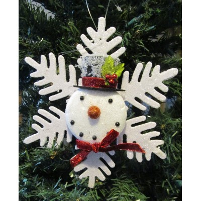 Snowflake with snowman